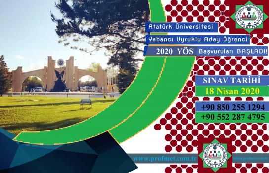 Atatürk Üniversitesi Yös Başvuru Takvimi 2020